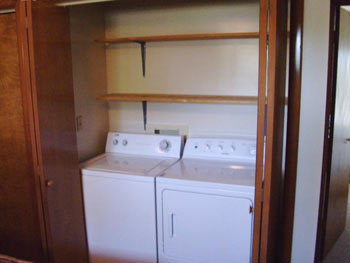 A view of the Apartment's washer and dryer